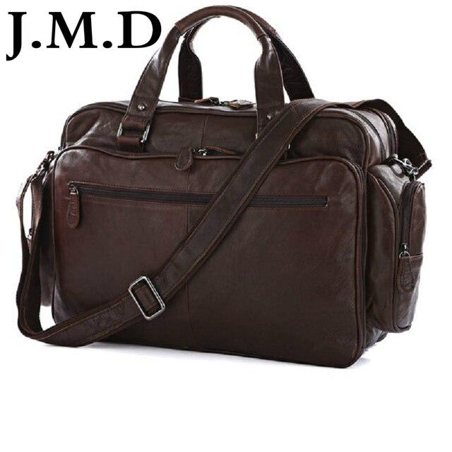 J M D 100 Real Leather Trendy Travel Bags Handbag Laptop Bag Duffel Shoulder Messenger