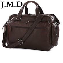 J.m.d 100% real de cuero de moda bolsas de viaje bolsa de ordenador portátil bolso de lona bolsas de hombro messenger bag bolsos 7150