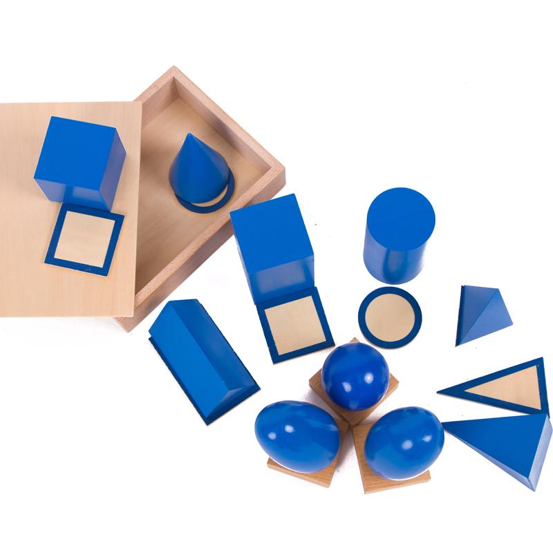 Montessori Sensorial Materials Geometric Solids Montessori Educational Learning Toys for Toddlers Juguetes Brinquedos MG1264H hot sale new baby toys brinquedos educativos montessori wooden toys for children giraffe juguetes learning