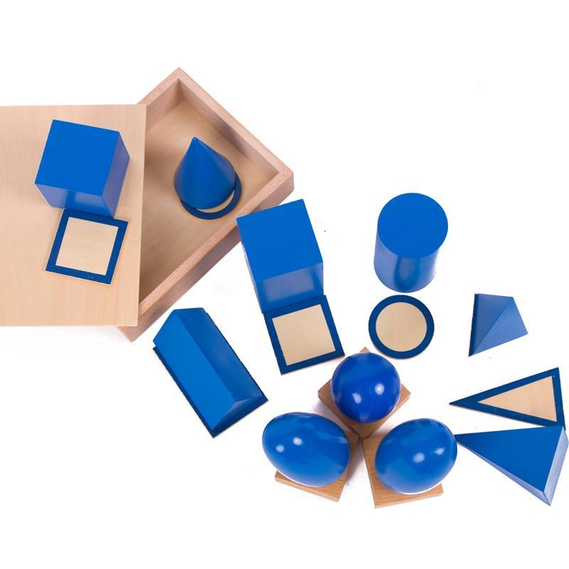 Montessori Sensorielle Matériaux Solides Géométriques Montessori Éducatifs Jouets D'apprentissage pour Les Tout-petits Juguetes Brinquedos MG1264H