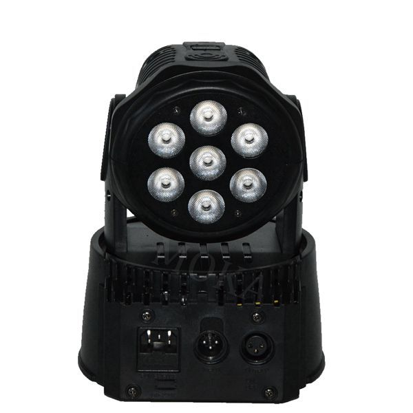 Fast Shipping LED moving head mini wash 7x10w rgbw lights with advanced 4/12 channels dmx light effect