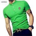 2017 novos homens polo camisa de manga curta respirável homem moda casual camisas polo gola polo de algodão masculina plus size m-4xl 5xl