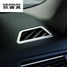 Auto-styling Innenraum Armaturenbrett Klimaanlage Entlüftungs edelstahl Aufkleber Trim für BMW 5 serie F10 auto Zubehör