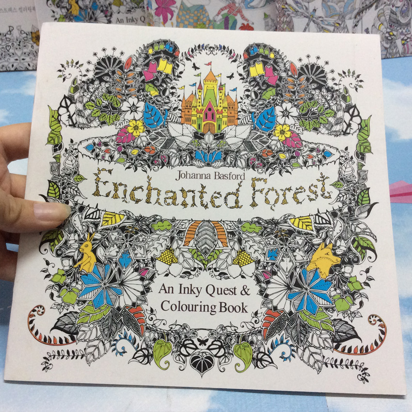 US $2.68 10% OFF|24 Page coloring book Enchanted Forest kids books Antistress Adult Coloring Books For adults Livre drawing/Art/colouring Book-in ...