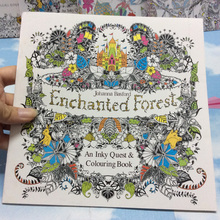 24 Pages Enchanted Forest Secret Garden Series Antistress Adult Coloring Books For Adults Livre Cloriage Kids Art Book