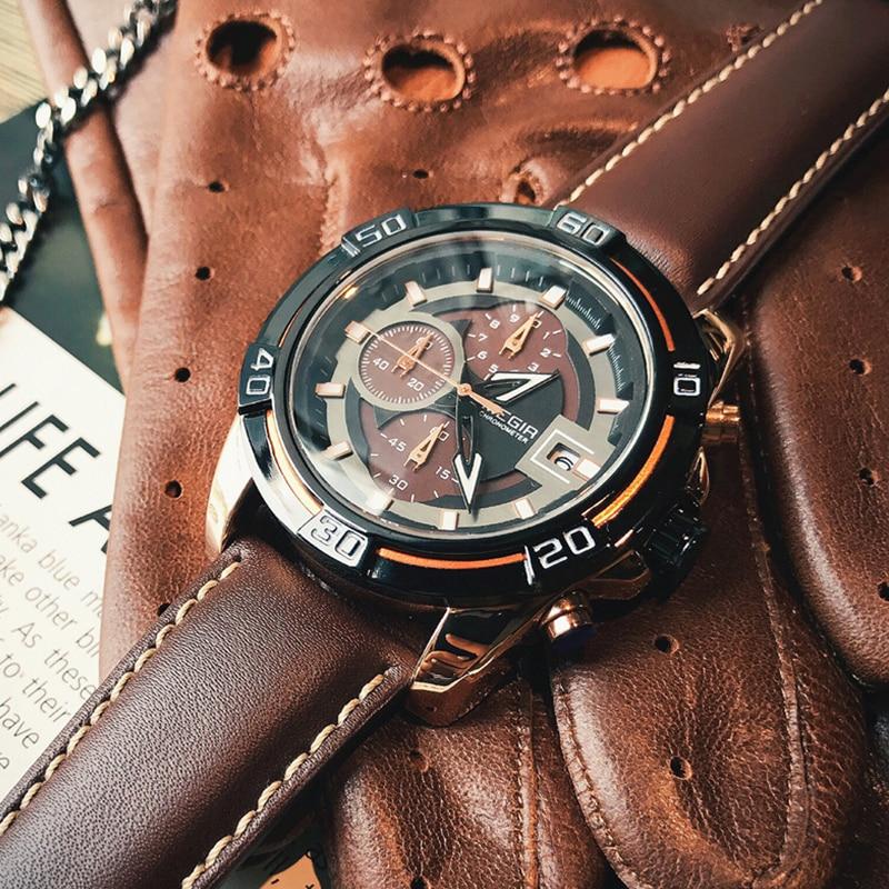 MEGIR Creative Fashion Quartz Wrist Watch Men Luxury Top Brand Waterproof Military Sports Watches Clock Male Relogio Masculino