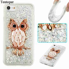 Dynamic Liquid Phone Cases For iPhone 6 7 6S Case Bling Sequin Quicksand Clear Soft TPU Back Cover For iPhone 7 6 6S Plus Coque