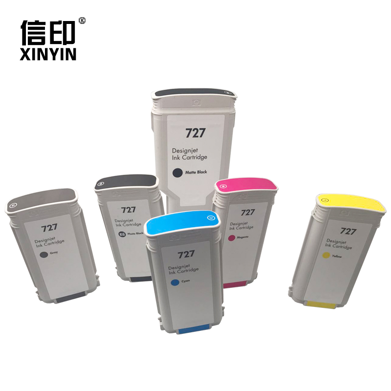 XY 6 Pieces For HP 727 Remanufactured Ink Cartridge For HP DesignJet T1530 T920 T1500 T2500 T930 T2530 Printer