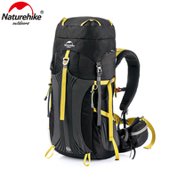 Naturehike ultralight professional climbing backpack big capacity camping hiking backpack waterproof bags for mountaineering