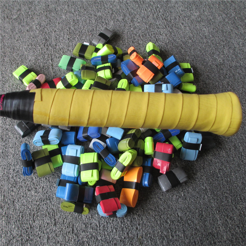 100PCS lot Badminton Racket Overgrips Viscous Anti skid Sweat Absorbed Wraps Taps Tennis Grip Racquet Vibration