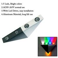 5 W Lâmpada de Parede Arandela luz tipo Triângulo 5 Leds fazer personalizado Corredor corredor AC85-265V interior Do Hotel KTV Bar decoração Do Hotel UR