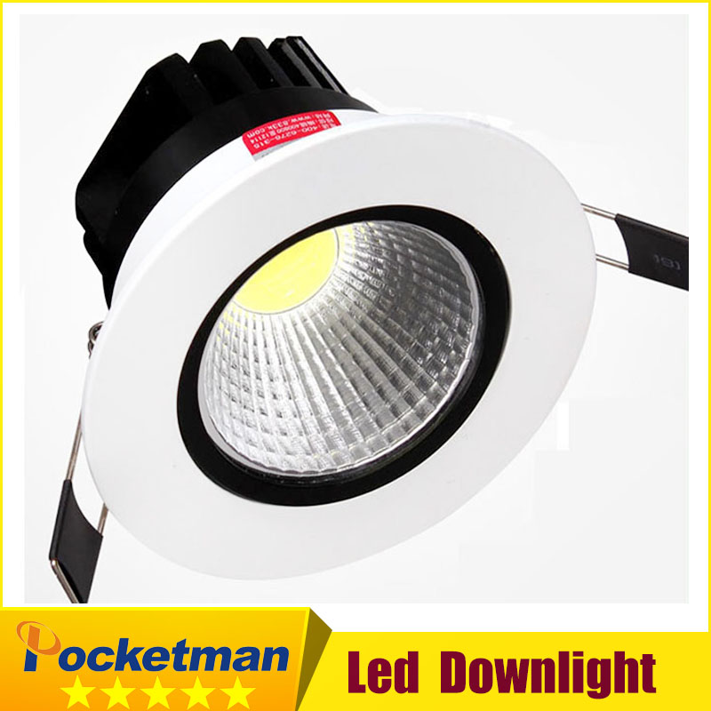 Recessed led downlight cob 5W 7W 9W 12W dimming LED Spot light led ceiling lamp 85-265V LED lamp zk40 kinfire kf1 5w 400lm 6000k 1 cob led white light ceiling lamp white silver ac 85 265v
