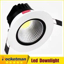 Recessed led downlight cob 5W 7W 9W 12W dimming LED Spot light led ceiling lamp 85-265V LED lamp zk40 cnlight 7w 400lm 6500k 7 led white light ceiling lamp spotlight 85 265v