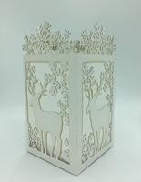 BOSHENG DIY Paper Light Angel Santa Elk Christmas Silhouette Luminary Lantern Shadow Box Indoor Decor