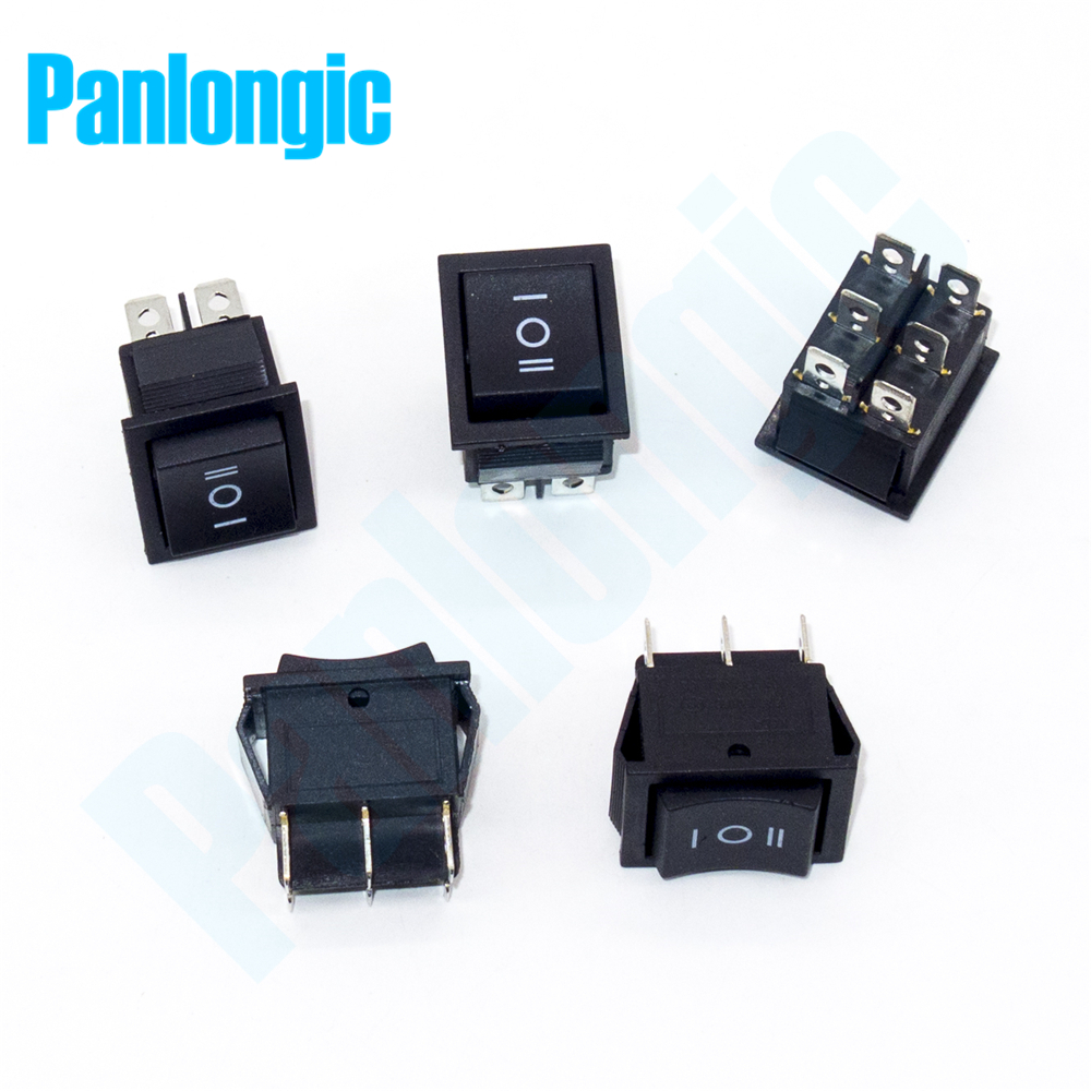 5pcs Lot Rocker Switch 3 Position 6 Foot Single Pole Double Throw Schematic Spdt Dpdt Ac 250v 16a 125v 20a On Off Auto Reset In Switches From Lights Lighting
