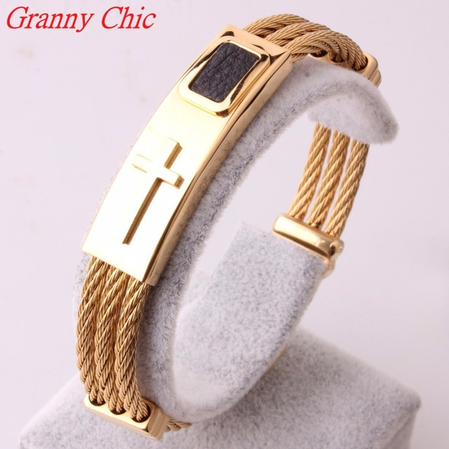 steel cuff bangles gold twisted tips beads bracelets cable bracelet dangles stainless plated collections studded g and tcb ss