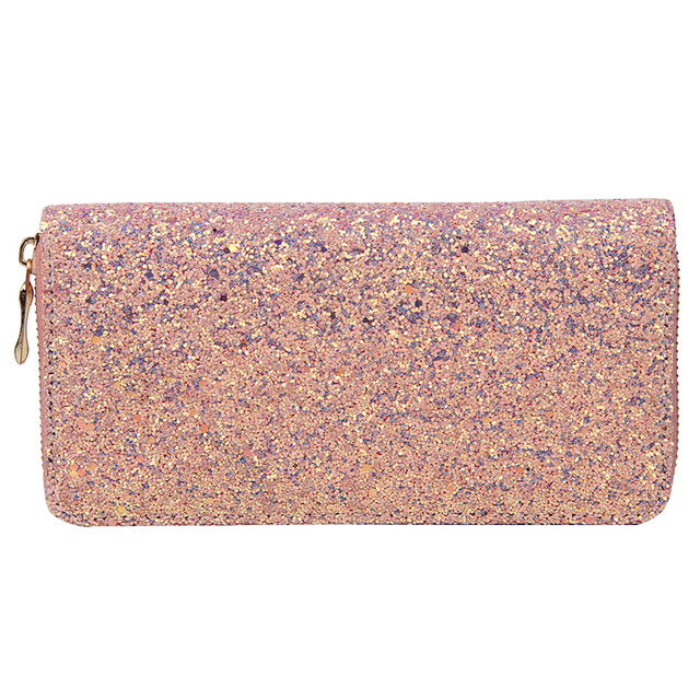 Luxury Women Long Wallet Sparkly Sequined Clutch Glitter Pu Leather Ladies Phone Bag Card Holder Coin Purse Female Wallets 1