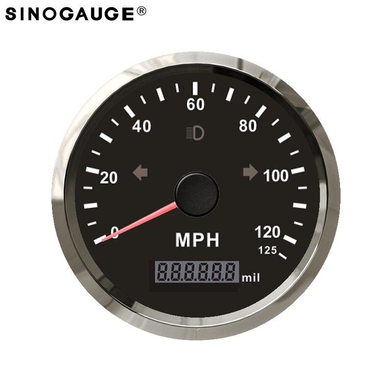 Velocímetro GPS de 85mm, envío gratis, 125MPH, motocicleta, izquierda, derecha, Luz De Carretera, alarma de sobrevelocidad, valor ajustable, recién llegado
