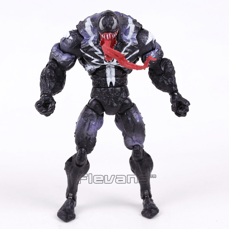 Genuine Original Venom from Spider Man PVC Action Figure Collectible Model Toy 7inch 18cm 2 Styles neca marvel legends venom pvc action figure collectible model toy 7 18cm kt3137