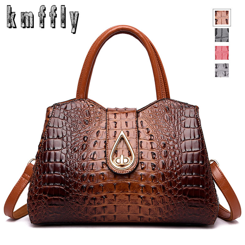 Luxury Crocodile Women Handbag Designer Fashion PU Leather Women Shoulder Bag High Capacity Totes Bags 2019 Famous Brand Sac