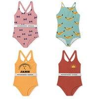 BBK Pre Sale Bobo Choses Summer 2018 Fashion Swimwear Girls Rompers Baby Girls Swimsuits Kids Bathing