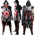 AC Ezio Auditore Hoodie Outfit Negro Edición comic-con Anime Del Traje de Halloween Cosplay Traje de Carnaval Adultos Hombres Mujeres