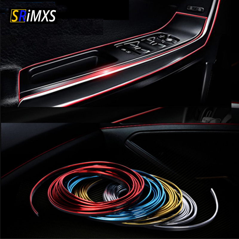 3M 5M Car Styling Interior Exterior Decoration Strips Stickers for Peugeot 206 207 301 307 308 407 408 508 3008 Car Accessories(China)