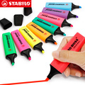9 шт./лот STABILO BOSS оригинальный маркер для разменного текста флуоресцентные цвета 2 мм + 5 мм наконечники набор канцелярских принадлежностей дл...