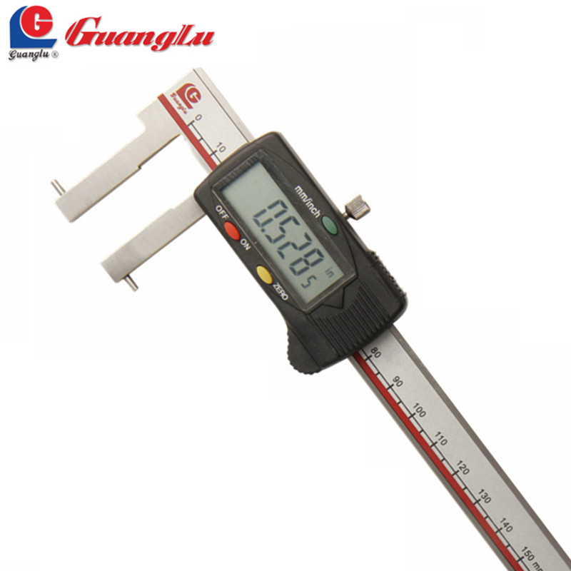 GUANGLU Digital Caliper 24-150mm/0.01 Electronic Vernier Caliper With Round Points For Inside Grooves Micrometer Measure ToolsGUANGLU Digital Caliper 24-150mm/0.01 Electronic Vernier Caliper With Round Points For Inside Grooves Micrometer Measure Tools