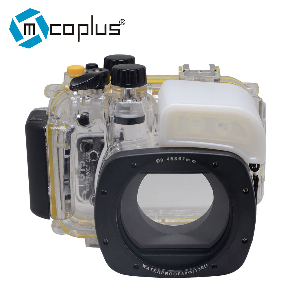 Mcoplus 40m/130ft Underwater Housing Waterproof Camera Diving Case for Canon PowerShot G15 WP-DC48 mcoplus 40m 130ft camera underwater housing waterproof shell case for nikon j5 10mm lens