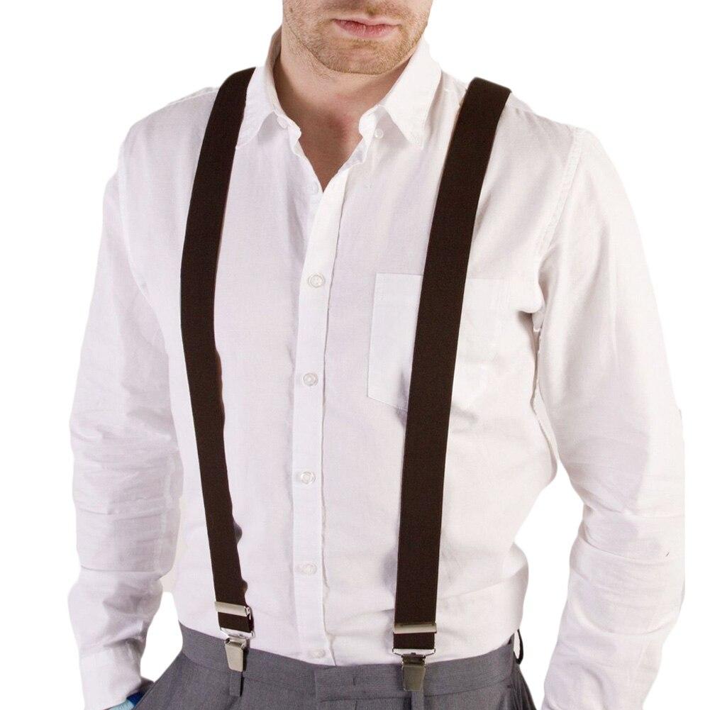 Patterened Bretelles Hommes Femmes Unisexe Pantalon élastique Y-back jarretelles ClipOn