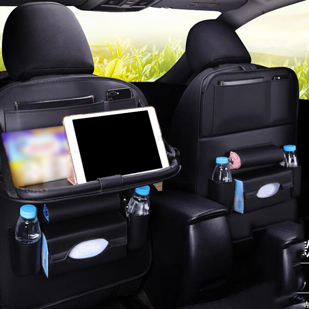Bag Protection-Pad Car-Seat Back-Hanging Cover Travel-Table Faux-Leather Organizer Storage-Holder