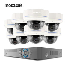 Moosafe 8CH 1080P CCTV PoE Home Security Video Surveillance Kits HDMI Video Output 8PCS 2.0MP CCTV POE IP Camera Camera System