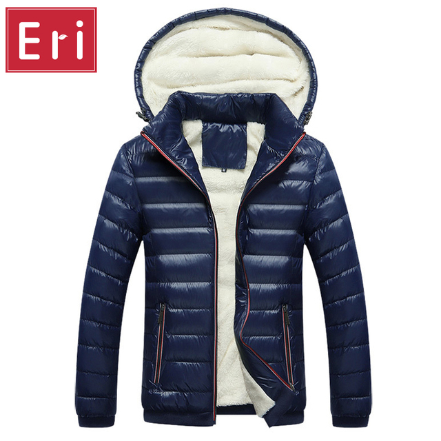 2017 New Winter Brand Men Down Jacket With Cashmere Jacket High Quality Fashion Thicken Warm Men's Coats Hat Detachable X313