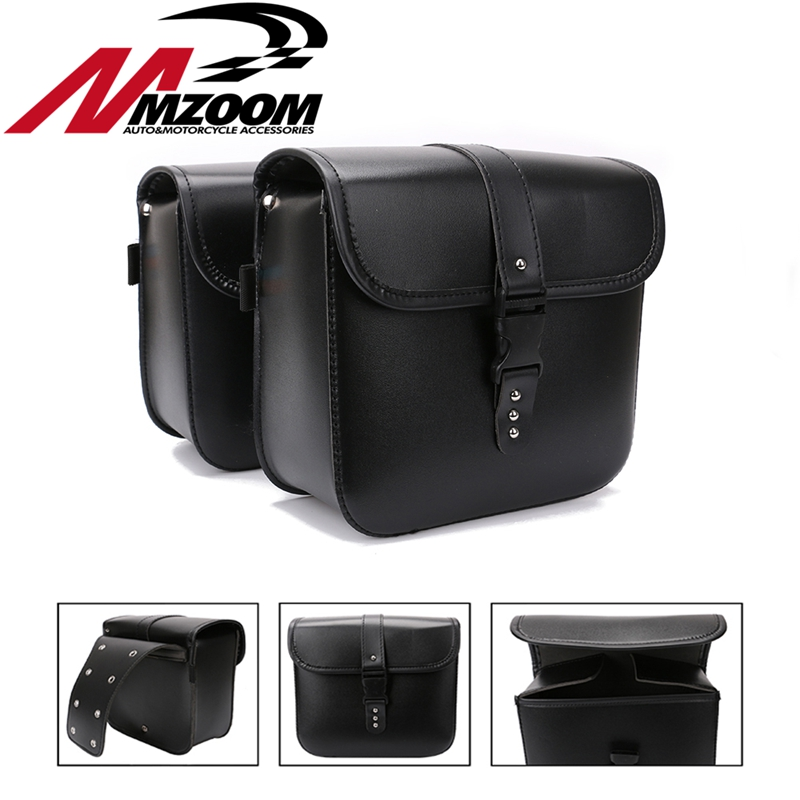 Motorcycle Leather Handbags Side Bags Tool Bag Cruise Side Bumper for Cruiser