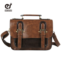 Vintage Satchel Women Messenger Bags Retro Women Briefcase Crossbody Top Quality Women Leather Handbags