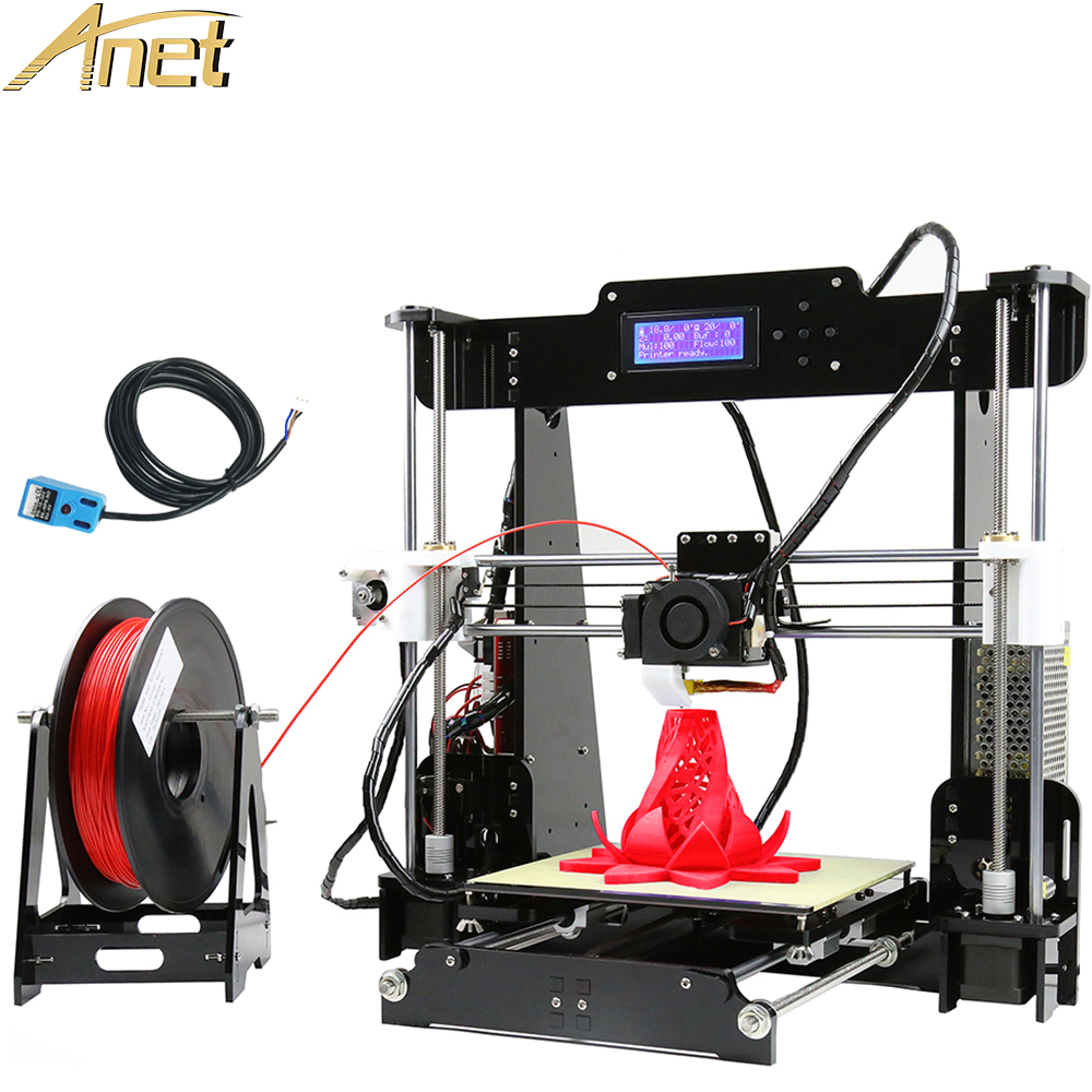 2016 11.11 Promotion Auto leveling Anet A8 Upgrade Acrylic Frame Reprap Prusa i3 3d printer DIY Kit with Free 1roll Filament