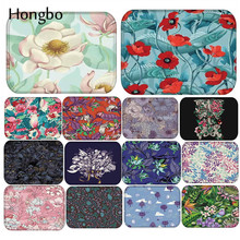 Hongbo 40*60cm Flower Ocean Pattern Anti-Slip Carpet Door Mat Doormat Outdoor Kithchen Living Room Floor Rug