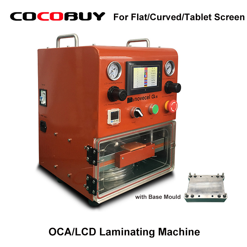 Novecel Q5 Laminating Machine OCA Vacuum Laminator For Less Than 11 Flat Screen Curved Screen Tablets