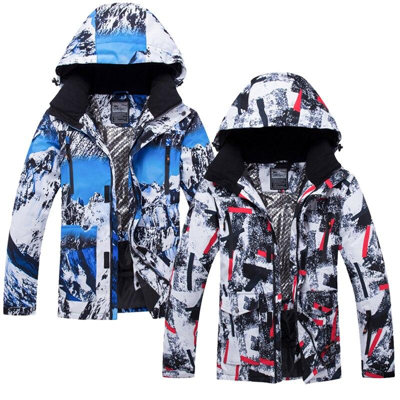 Veste de Ski homme coupe-vent et maintien au chaud veste de snowboard respirante grande taille veste de sport pour veste de ski en plein air