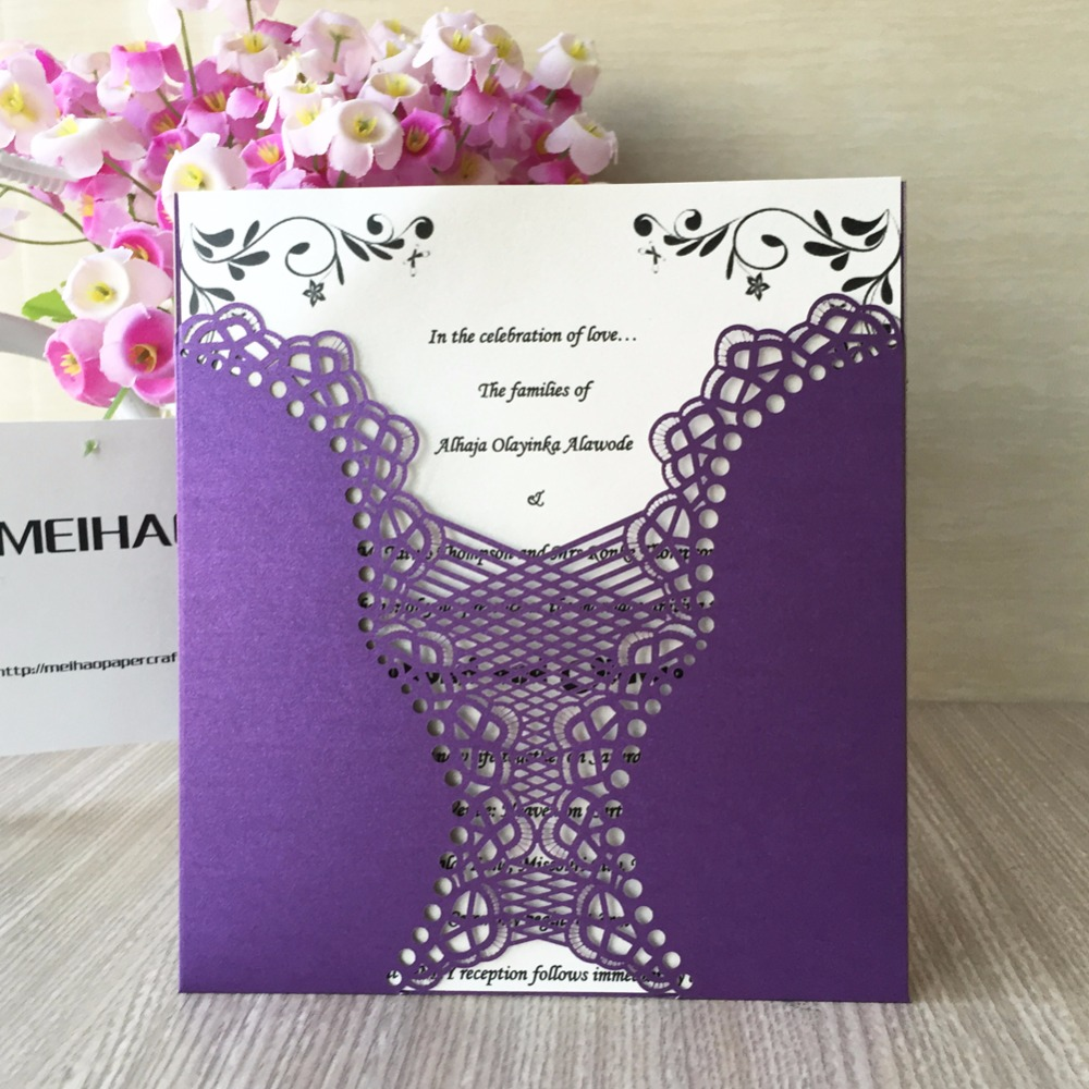 50pcslot Laser Cut Wedding Invitation Card For Decoration Flower Carved Dark Purple Chinese Red Bright Royal Blue 21 Colorsin Cards Invitations From: Purple Wedding Invitation Card At Websimilar.org
