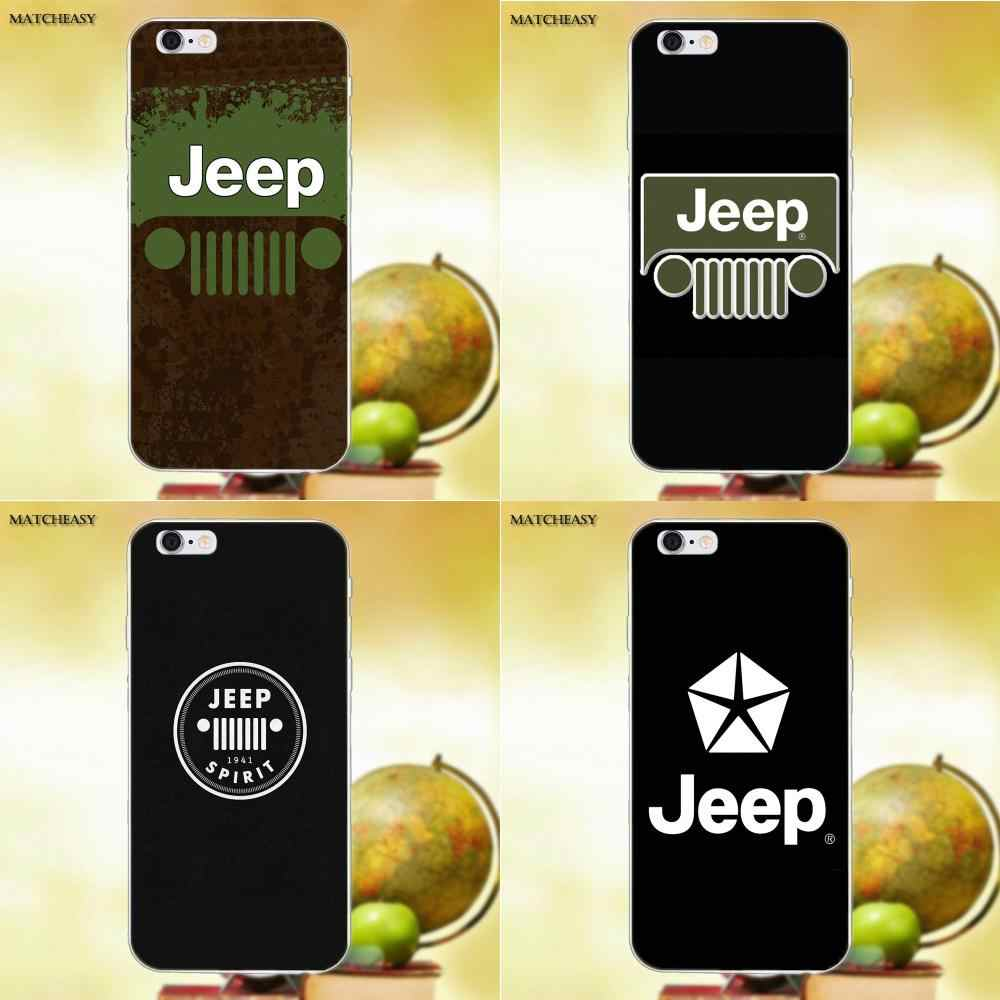 Jeeps Wrangler Unlimited Tj Renegade For Apple Iphone X Xs Max Xr 4 4s 5 5c Se 6 6s 7 8 Plus X Soft Patterns