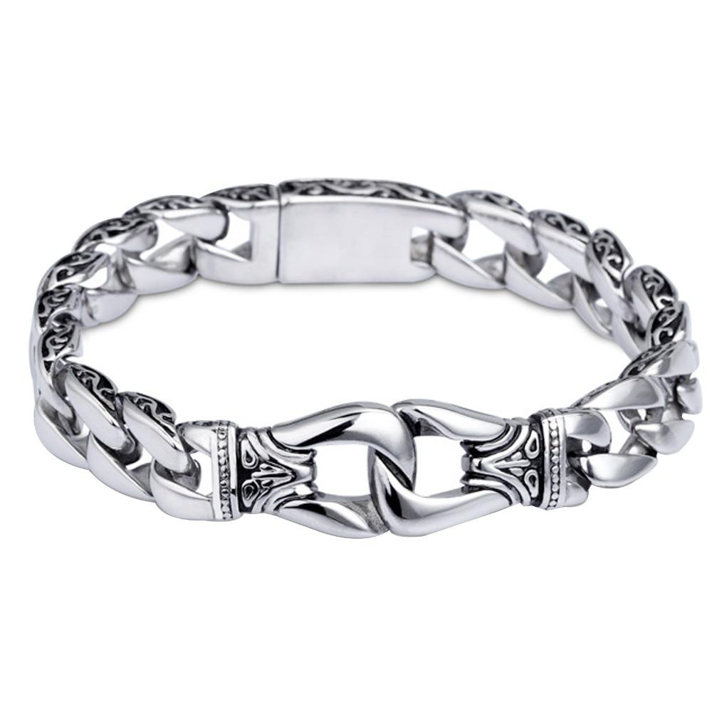16mm 316l Stainless Steel Bracelet Silver(color) Mens Boys Bracelet  Wholesale Gift Jewelry (