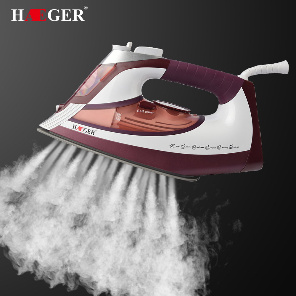 2600W home laundry appliances Electric Steam Iron For Clothes Multifunction Adjustable Ceramic soleplate iron