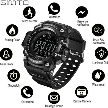 GIMTO Outdoor smart watch sport watch Men Running Digital Militar Men's Watches stopwatch smartwatch android Electronics Clock 1