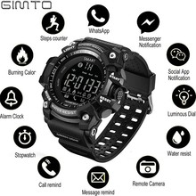 GIMTO Outdoor smart watch sport Men Running Digital Militar Mens Watches stopwatch smartwatch android Electronics Clock