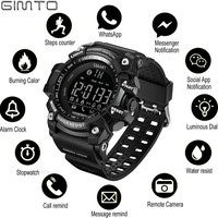 GIMTO Sports Mens Smart Watch Men Pedometer Calories Waterproof Smartwatch Electronic Wrist Watches For Men Digital Bluetooth