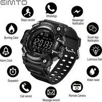 GIMTO Sports Mens Smart Watch Men Pedometer Calories Waterproof Smartwatch Electronic Wrist Watches For Men Digital