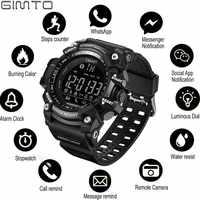 Gimto Outdoor Smart Watch Uomini Della Vigilanza di Sport Corsa E Jogging Digitale Militar Orologi da Uomo Cronometro Smartwatch Android Elettronica Orologio