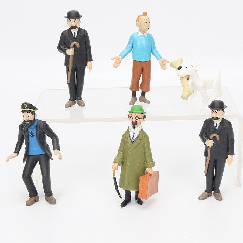 Pvc Figurine Tintin divers  4 a 10 cm Véritable  Figurine Tintin Moulinsart